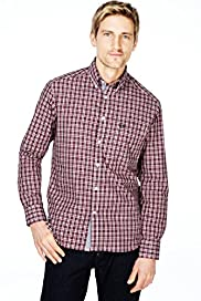 Blue Harbour Pure Cotton Gingham Checked Shirt