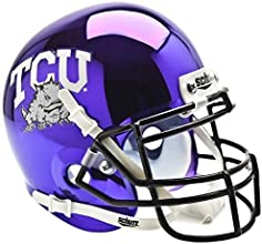 TEXAS CHRISTIAN HORNED FROGS NCAA Schutt XP Authentic MINI Football Helmet TCU CHROME by Schutt
