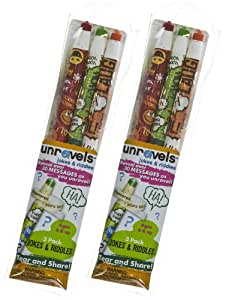 Jokes & Riddles: Unravels Colored 3-Pencil Double Pack (Total = 6 Pencils)