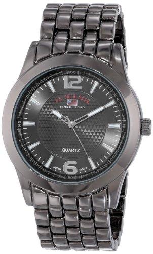 U.S. Polo Assn. Classic Men'S Us8438 Black Dial Gun Metal Bracelet Watch