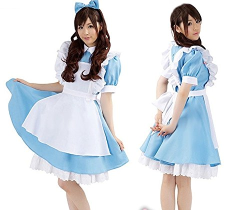 Super top seller Women's Alice Cosplay French Apron Maid Fancy Dress Costume
