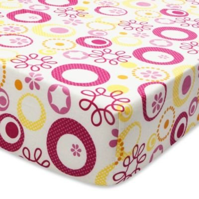 True Baby Sunshine Fitted Crib Sheet in Floral Print - 1
