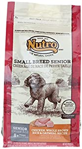 The Nutro Company Small Breed Senior Dog Food with Chicken Whole Brown Rice and Oatmeal Formula, 4-Pound