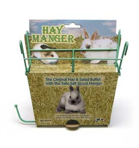 Kaytee Rabbit Hay Manger Feeder with Salt Hanger