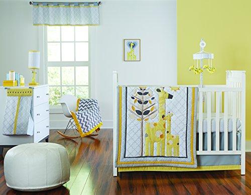 Happy Chic Baby by Jonathan Adler Safari Giraffe 4 Piece Crib Bedding Set - 1