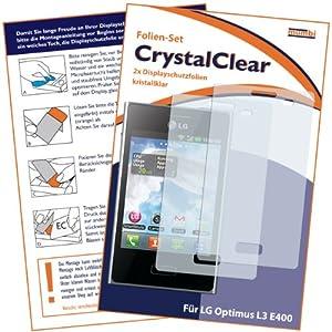 2 x mumbi Displayschutzfolie LG Optimus L3 E400 Schutzfolie CrystalClear unsichtbar