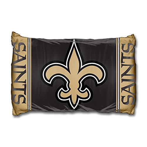 Set Of Two Nfl New Orleans Saints Reversible Pillowcases Football