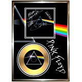 PINK FLOYD DARK SIDE OF THE MOON - SIGNED FRAMED GOLD VINYL RECORD CD & PHOTO DISPLAY