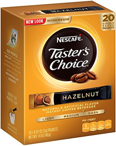 Nescafe Tasters Choice Hazelnut Instant Coffee, Single Serve Sticks 20-Count , (Pack of 8) (Instant Flavor Coffee compare prices)