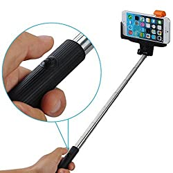 Tuzech Rechargeable Inbuilt Bluetooth Fully automatic Selfie Stick ( Remote In Stick)