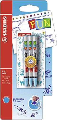 STABILO b- 47352-10 fun avec 2 cartouches d'encre à collectionner aufkleberkarten-medium-lot de 10 lot de 3-bleu turquoise