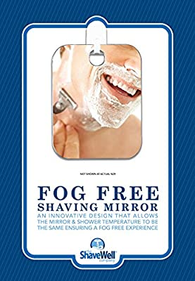 The Shave Well Company a TRULY FOG FREE Shower Shave Mirror. Truly fogless by design. Will not fall off of the wall.