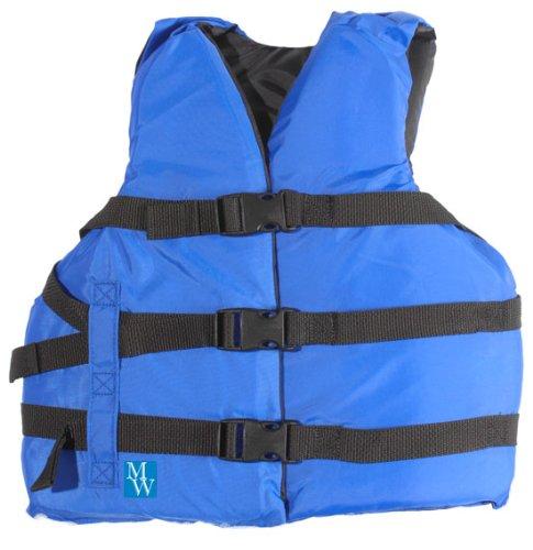 MW Youth 3-Buckle Life Jacket Vest - Blue