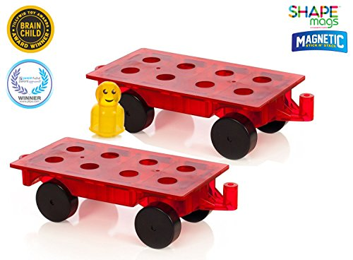 Award Winning Magnetic Stick N Stack - Set of 2 Wheel Bases + 16 Figures