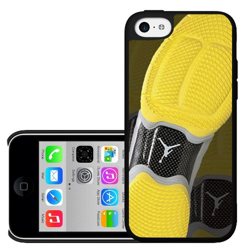Designer Shoe 10's Yellow and Black Shoe Print Hard Snap on Phone Case (iPhone 5c)