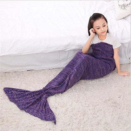 WEISHENMEN Bambini 'Mermaid aria estiva Blanket - estivi coperta condizionata fredda da parte dei bambini pisolino coperta Dimensioni: 140 * 70CM BULAIDANZI