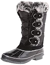 Khombu Women\'s Bryce Snow Boot,Black,8 M US