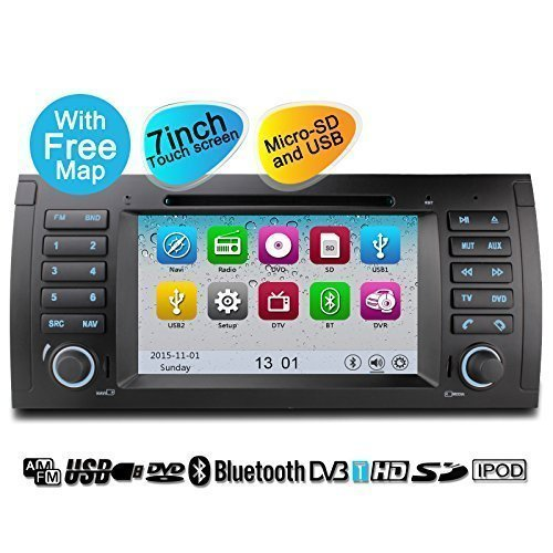 YINUO 2DIN 7 inch Wince 6.0 Touchscreen car dvd player multimedia system With Bluetooth for BMW 5 E39 1996-2003/ BMW X5 E53 2000-2007 (Bmw X5 Tv compare prices)