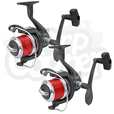 2x Sea Fishing Reel With Spare Spool Spinning Beachcaster Rock Pier NGT BM5000FD by Carp Corner