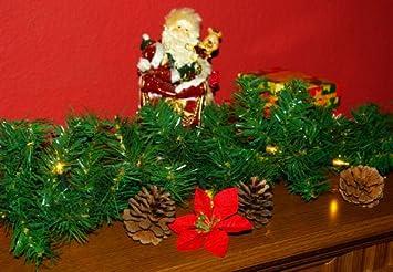 weihnachtsgirlande mit 35er mini lichterkette weihnachtsbeleuchtung 2 7 m xmas dc858. Black Bedroom Furniture Sets. Home Design Ideas