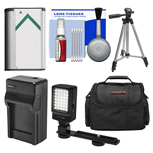 Essentials Bundle For Sony Handycam Hdr-Cx240 & Hdr-Pj275 Camcorder With Case + Led Light + Np-Bx1 Battery & Charger + Tripod Kit