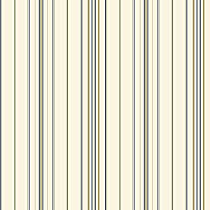 Pinstripe Wallpaper, Cream/Dark Green/Tan/Medium Blue - - Amazon.com