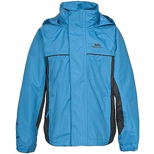 (드레스 패스) Trespass 키즈・아이・쥬니어 보이의  무키  레인 재킷 방수 재킷 방수・방풍 코트 아우터 사내 아이-
