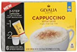 Gevalia Espresso Coffee Cups and Froth Packets, Cappuccino, 6 Count (Pack of 6)