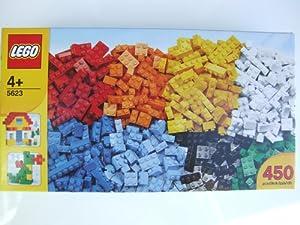 lego 5623 grosse boite de brique 450 briques de couleurs. Black Bedroom Furniture Sets. Home Design Ideas