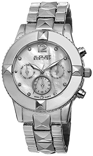 August Steiner Mother-of-Pearl Ladies Watch AS8107SS
