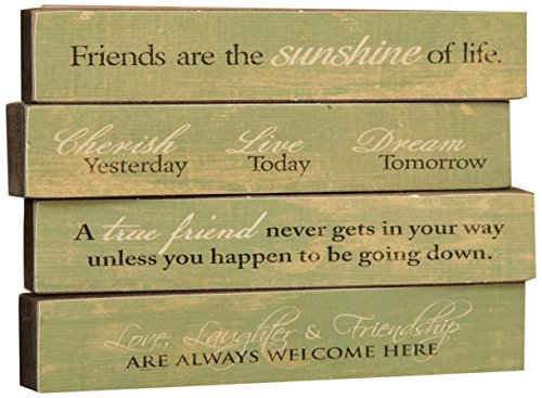 Your Hearts Delight 7 by 1-1/4-Inch Distressed Message Blocks, Mini, Sage