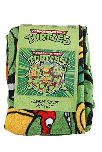 New Green Teenage Mutant Ninja Turtles Shells Weapons Tmnt Fleece Throw Blanket front-1054145