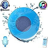 #6: Shipmate Mini Portable Waterproof Bluetooth Wireless Shower Speaker with Powerful Suction Cup for All Devices With Built-in Control Buttons, Kid-friendly - Best for Bath, Pool, Car, Beach, Indoor/Outdoor Use (Blue)