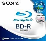 SONY ブルーレイディスク データ用 BD-R 追記型 片面1層 6倍速 25GB 1枚 ホワイトワイドプリントエリア採用 BNR1DBPJ6