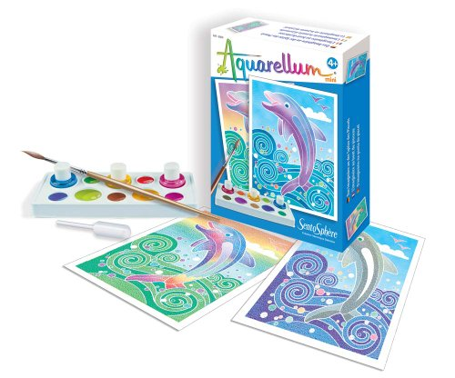 SentoSphere Mini Aquarellum Dolphins Arts and Crafts Paint Set