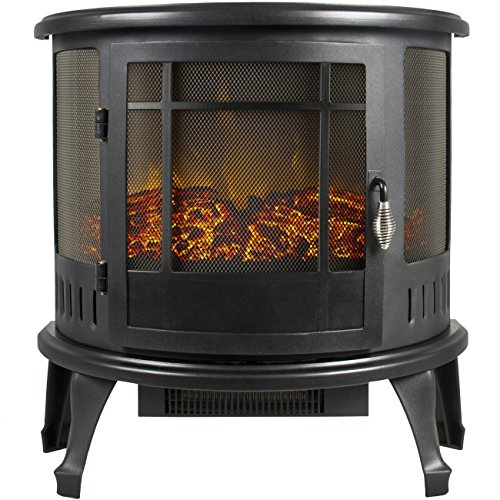 Best Choice Products SKY2271 Portable Electric Fireplace Stove, 1500W (Electric Fireplace Open compare prices)