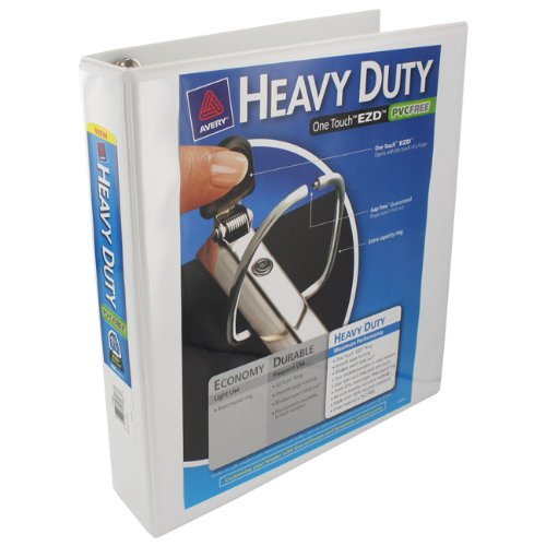 6 Avery Heavy Duty 1.5in View One Touch D-Ring Binders White