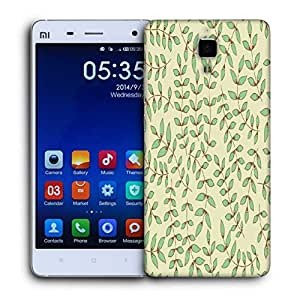 Snoogg Green Leaves Printed Protective Phone Back Case Cover For Xiaomi Mi 4