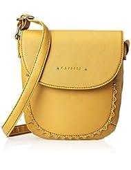 Caprese Women's Sling Bag (Ochre) - B00UF9OAKC