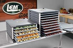 LEM Products 10 Tray Food Dehydrator with Digital Timer by LEM