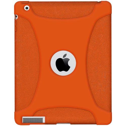 Imagen de La jalea del silicón Cubierta Amzer Skin Fit Funda para Apple iPad 2 y iPad 3 - Orange