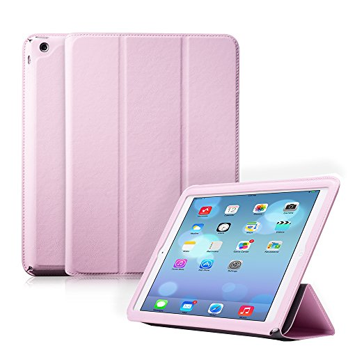 Ivapo Luxury Vintage Multiple Angle Vision Stand Function Flip Cover Case With Auto Wake/Sleep Feature For Ipad Air/5 (Mm471) (Pink)