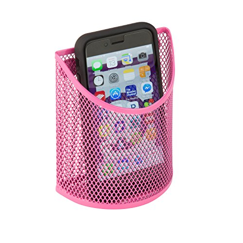 honey-can-do-bts-06561-excessory-magnetic-mesh-cup-pink-394l-x-197w-x-504h