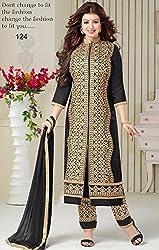 Ecoco Fashion Ayesha Takiya Black Heavy Dress Material