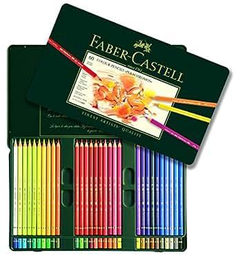 カステル ポリクロモス色鉛筆 60色 缶入110060