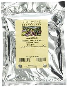 Starwest Botanicals Organic Spirulina Powder, 1-pound Bag