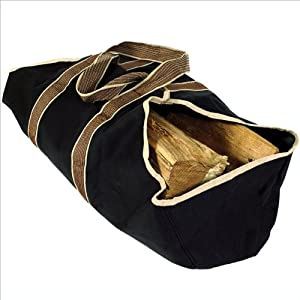 Uniflame Heavy Weight Canvas Log Tote with Closed Ends