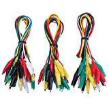 eBoot 30 Pieces Test Leads with Alligator Clips Set Insulated Test Cable Double-ended Clips, 20 Inch