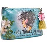 Papaya Art Future Beauty Graphic Arts Design Oil Cloth Cosmetic or Accessory Bag