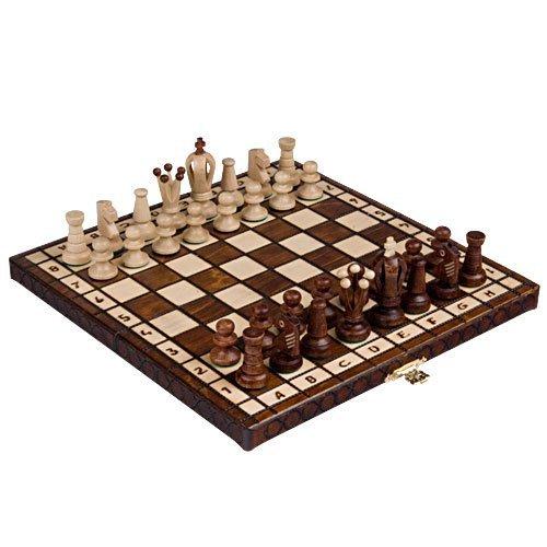 """Chess Set - Royal 30 European Wooden Handmade International Chess Set - 11-3/4"""" x 11-3/4"""""""